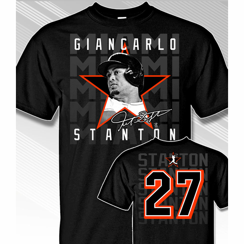 Giancarlo Stanton Star Power T-Shirt<br>Short or Long Sleeve<br>Youth Med to Adult 4X