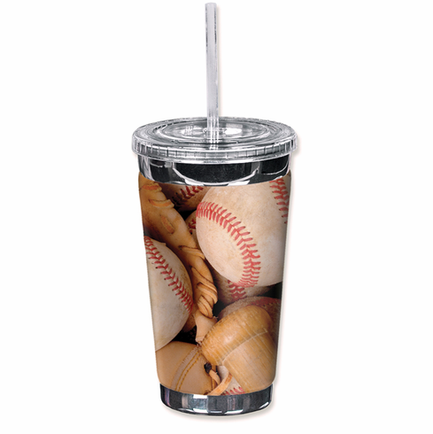 Glove, Baseballs and Bat To Go Cup