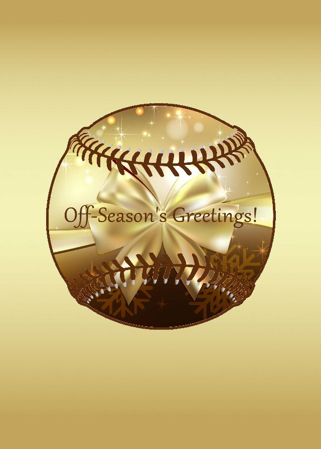 Personalized Gold Baseball Holiday Cards<br>5 PACK MINIMUM!
