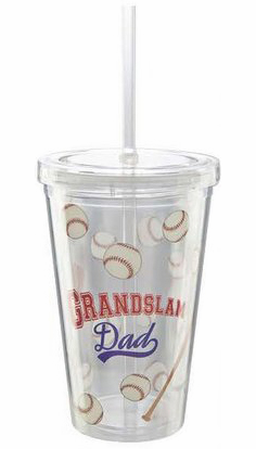 Grandslam Dad Baseball 16oz Insulated Cup w/Straw<br>ONLY 4 LEFT!