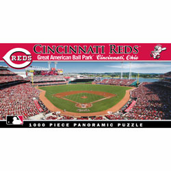 Great American Ballpark Cincinnati Reds 1000pc Panoramic Puzzle<br>ONLY 1 LEFT!