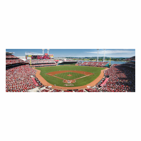 Great American Ballpark Cincinnati Reds 1000pc Panoramic Puzzle<br>ONLY 3 LEFT!