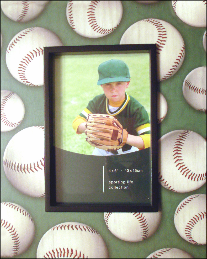 Green Baseball 4x6 Frame