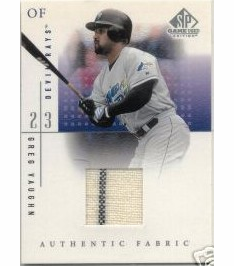 Greg Vaughn 2001 SP Game Used Jersey Patch