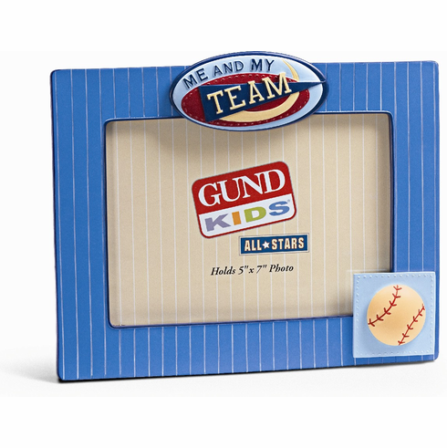 Gund Baseball Me and My Team 5x7 Frame<br>ONLY 1 LEFT!