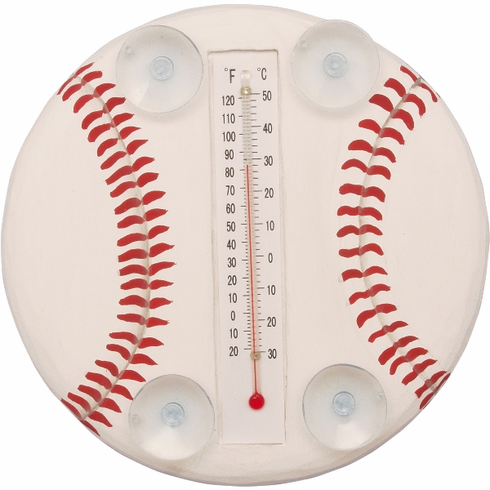 Hand Crafted Baseball Window Thermometers