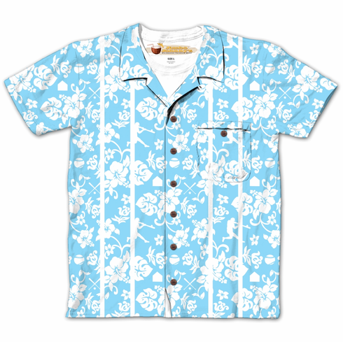 Hawaiian Baseball Design Sublimated Adult T-Shirt<br>SMALL or MEDIUM