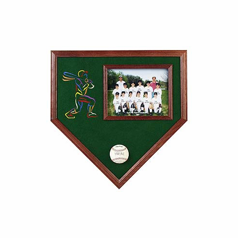 Home Plate 1 Pic Baseball Cases