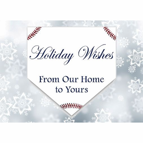 Home Plate Baseball Holiday Cards<br>PERSONALIZED FREE IF YOU BUY 5+ PACKS!