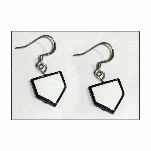 Home Plate Wire Earrings