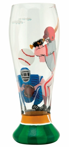 Home Run Baseball Pilsner Glass by Lolita<br>ONLY 5 LEFT!