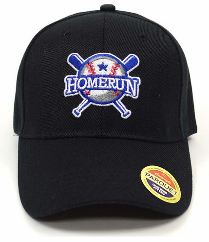 Home Run Embroidered Black Baseball Cap<br>ONLY 2 LEFT!