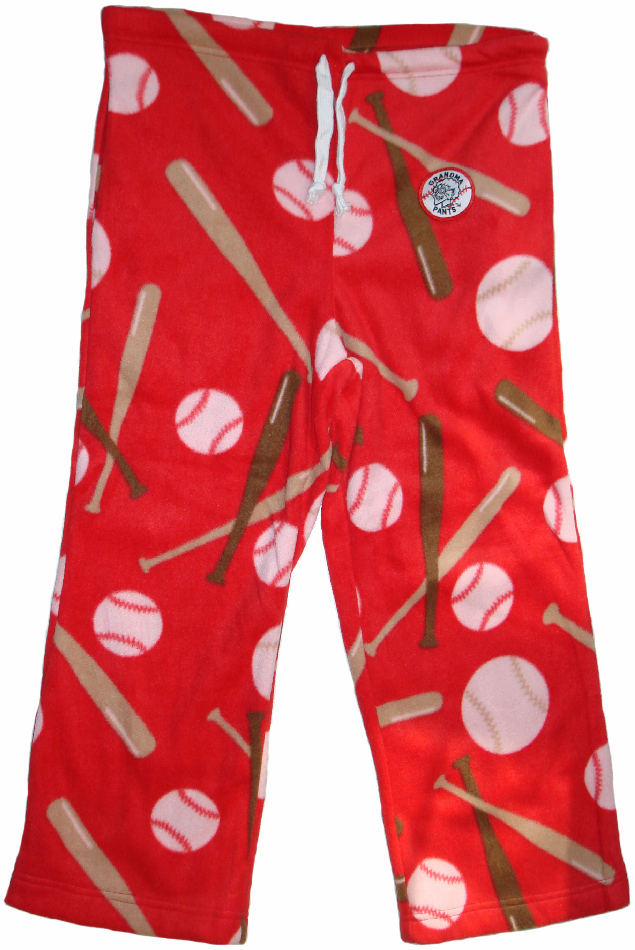 Home Run Red Adult XL Baseball Fleece Pants<br>ONLY 2 LEFT!