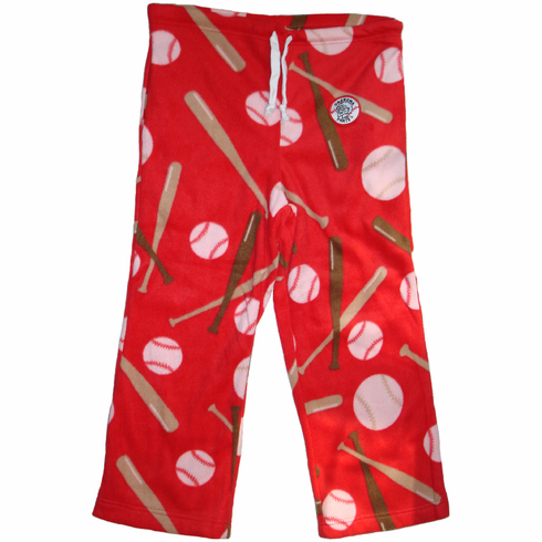 Home Run Red Baseball Fleece Pants<br>Adult M or XL