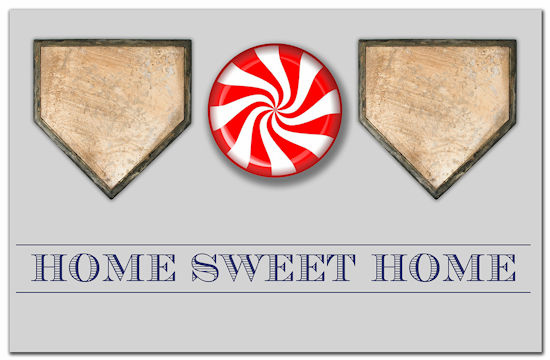 Home Sweet Home Baseball Doormat<br>LESS THAN 6 LEFT!