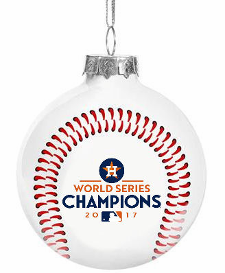 Houston Astros 2017 World Series Champions Glass Ball Ornament<br>LESS THAN 20 LEFT TO PRE-ORDER!