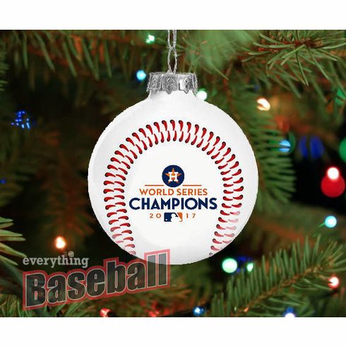 Houston Astros 2017 World Series Champions Glass Ball Ornament<br>LESS THAN 10 LEFT!
