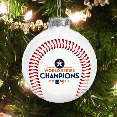 Houston Astros 2017 World Series Champions Glass Ball Ornament<br>LESS THAN 12 LEFT!