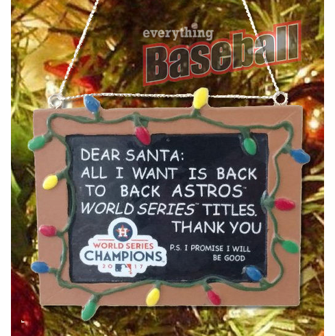 $3 $5 $7 SALE!<br>Houston Astros 2017 World Series Champions Resin Chalkboard Sign Ornament<br>LESS THAN 8 LEFT!