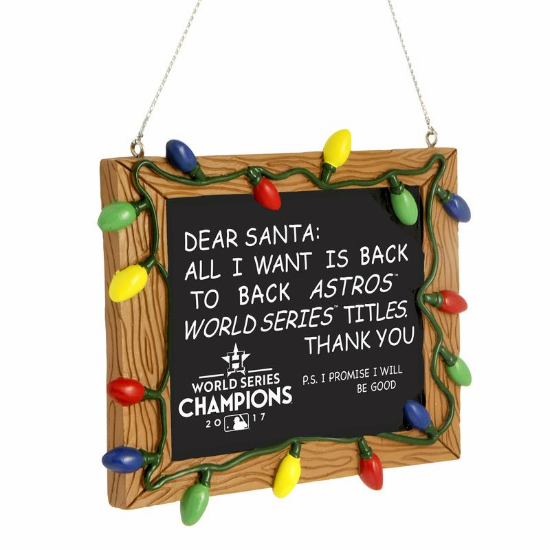 Houston Astros 2017 World Series Champions Resin Chalkboard Sign Ornament<br>LESS THAN 8 LEFT!