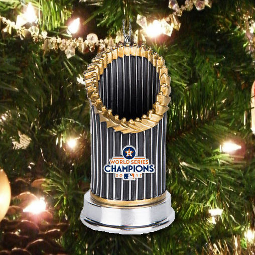 Houston Astros 2017 World Series Champions Resin Trophy Ornament<br>LESS THAN 18 LEFT!