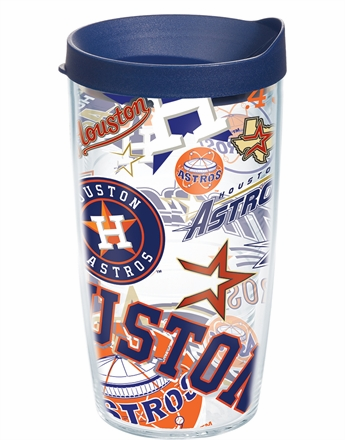 Houston Astros All Over Wrap Set of Cups with Lids by Tervis