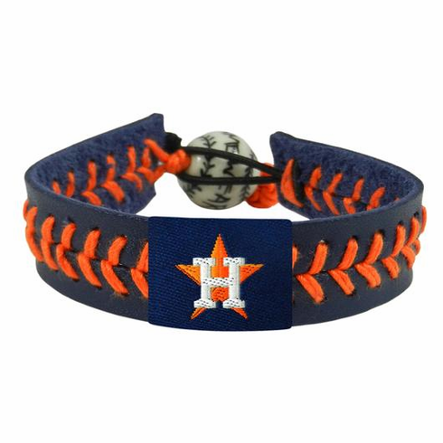 Houston Astros<br>Baseball Seam Team Colored Bracelet
