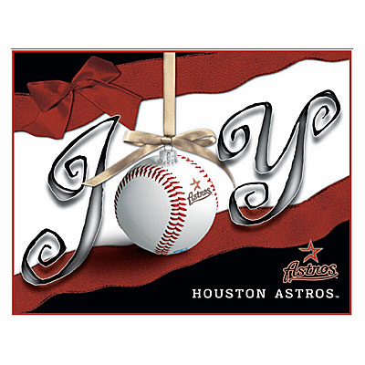 Houston Astros Boxed Christmas Cards<br>ONLY 2 BOXES LEFT!