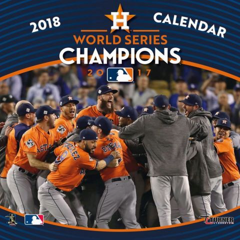 Houston Astros World Series Champions 2018 Wall Calendar<br>LESS THAN 8 LEFT TO PRE-ORDER!