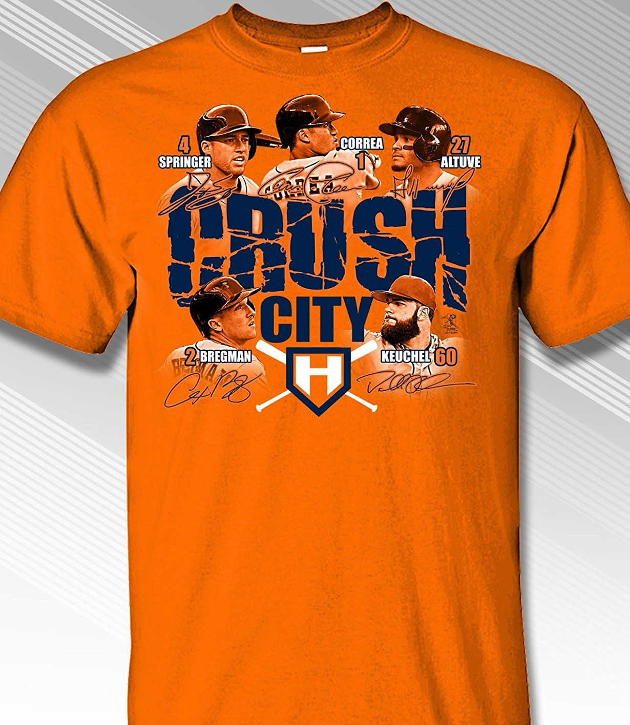 Houston Crush City T-Shirt<br>Short or Long Sleeve<br>Youth Med to Adult 4X