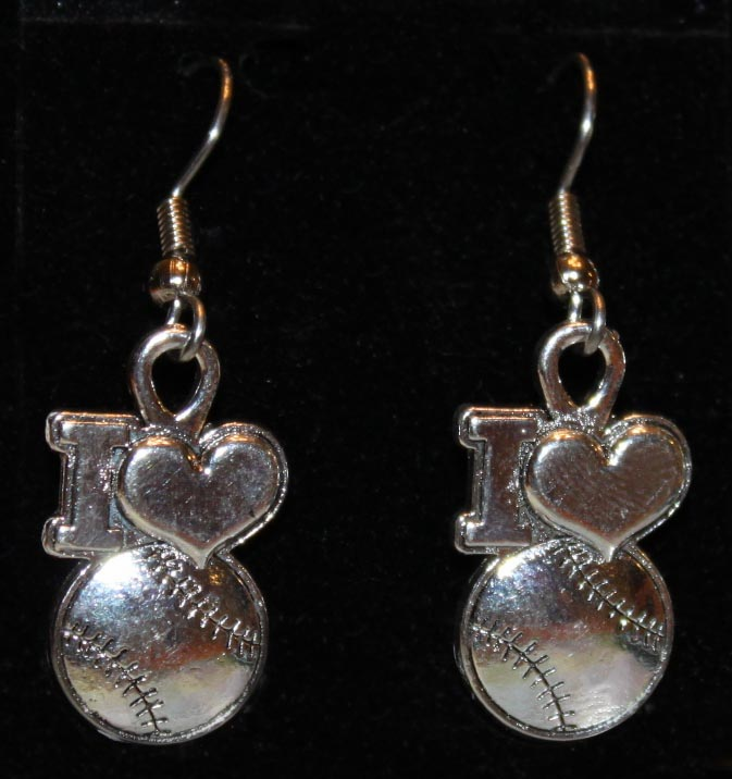 I Heart Baseball Earrings<br>ONLY 4 LEFT!