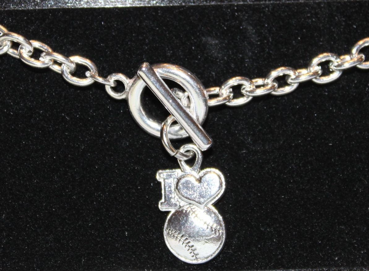 I Heart Baseball Toggle Bracelet<br>ONLY 7 LEFT!