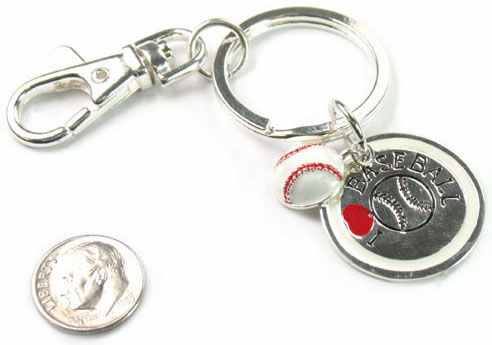 I Love Baseball Key Chain