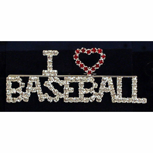 I Love Baseball Pin<br>ONLY 1 LEFT!
