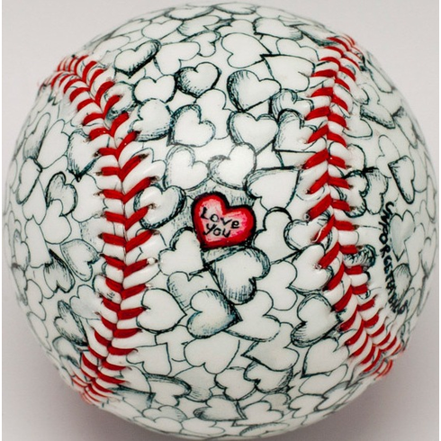 I Love You Heart Baseball<br>PRE-ORDER FOR MAY DELIVERY!