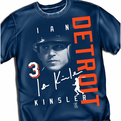 Ian Kinsler DETROIT Signature T-Shirt<br>Short or Long Sleeve<br>Youth Med to Adult 4X
