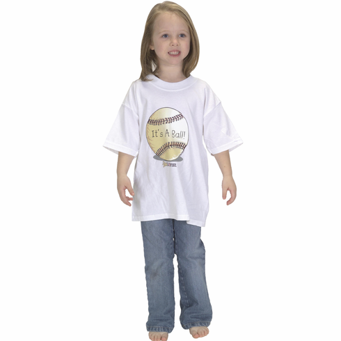 It's A Ball! Youth Baseball T-Shirt<br>Youth Med or Youth Lg