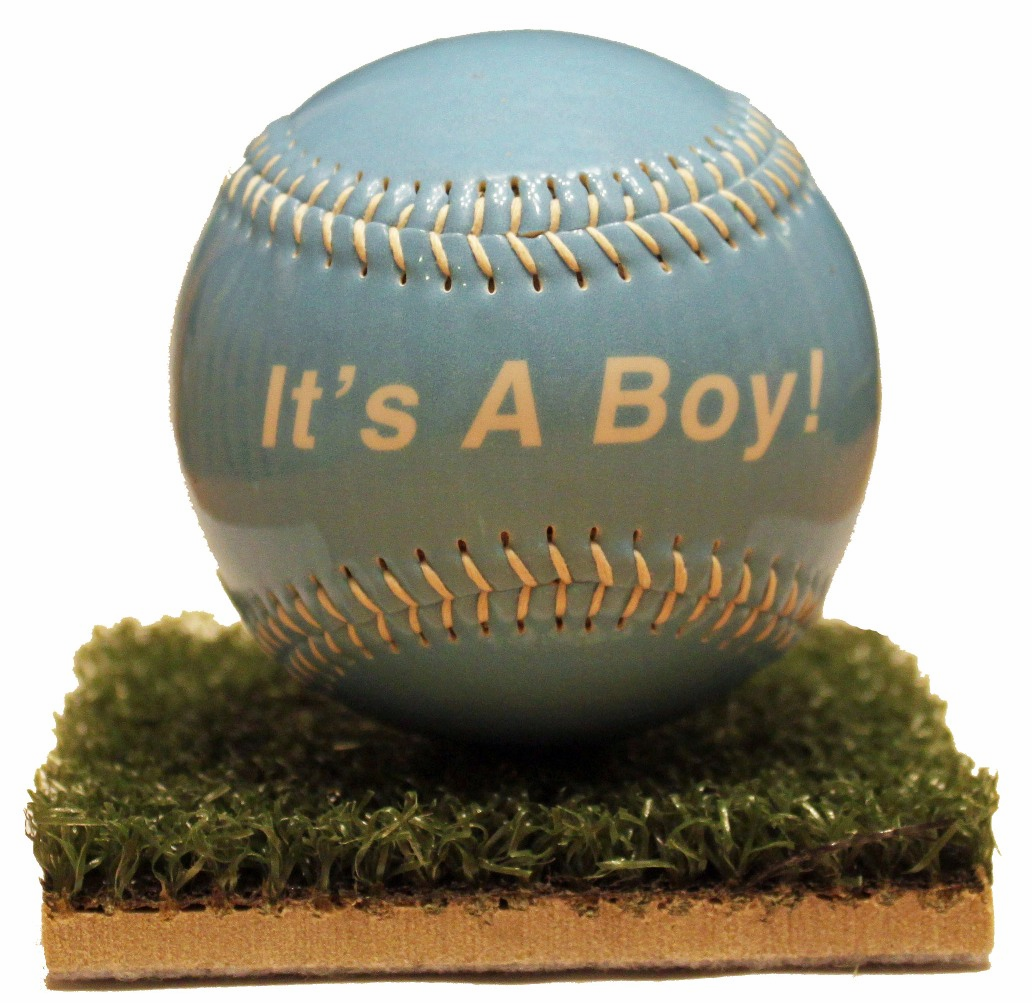 It's A Boy! Baby Gloss Baseball