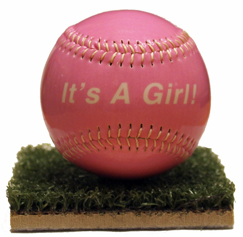 It's A Girl! Baby Gloss Baseball