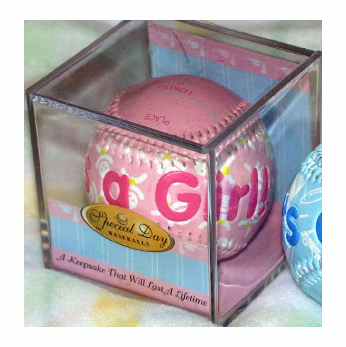 It's A Girl Pink Baby Baseball