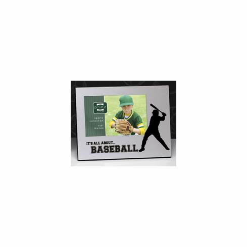 It's All About...BASEBALL 4x6 Picture Frame