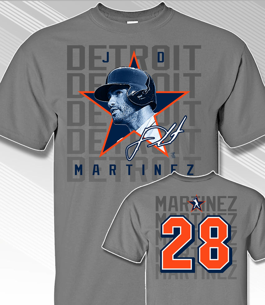 J. D. Martinez Star Power T-Shirt<br>Short or Long Sleeve<br>Youth Med to Adult 4X