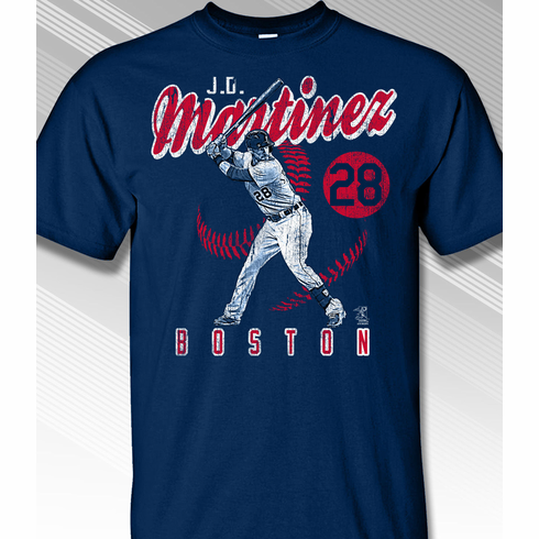 J. D. Martinez Vintage Boston T-Shirt<br>Short or Long Sleeve<br>Youth Med to Adult 4X