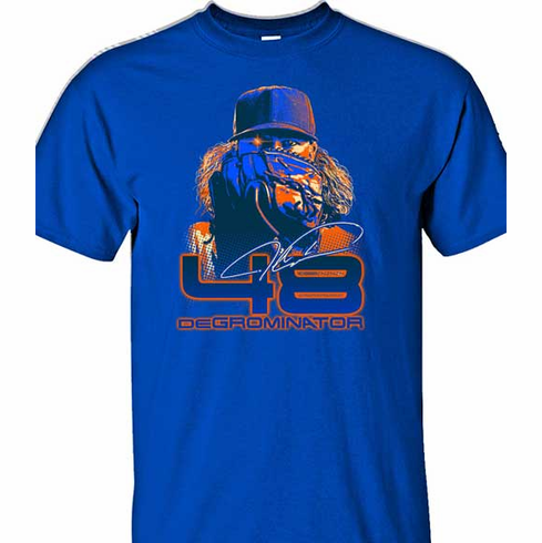 Jacob deGrom DEGROMINATOR 48 T-Shirt<br>Short or Long Sleeve<br>Youth Med to Adult 4X
