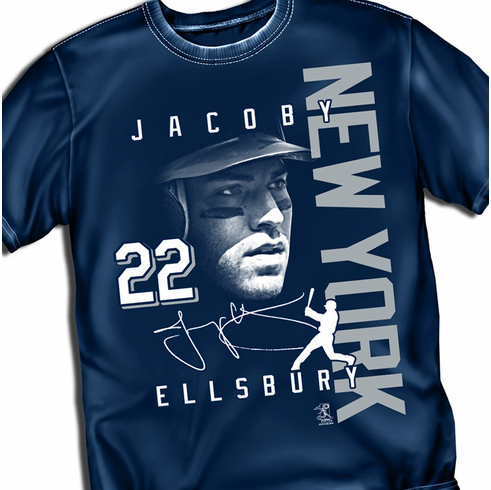 Jacoby Ellsbury NEW YORK Signature T-Shirt<br>Short or Long Sleeve<br>Youth Med to Adult 4X