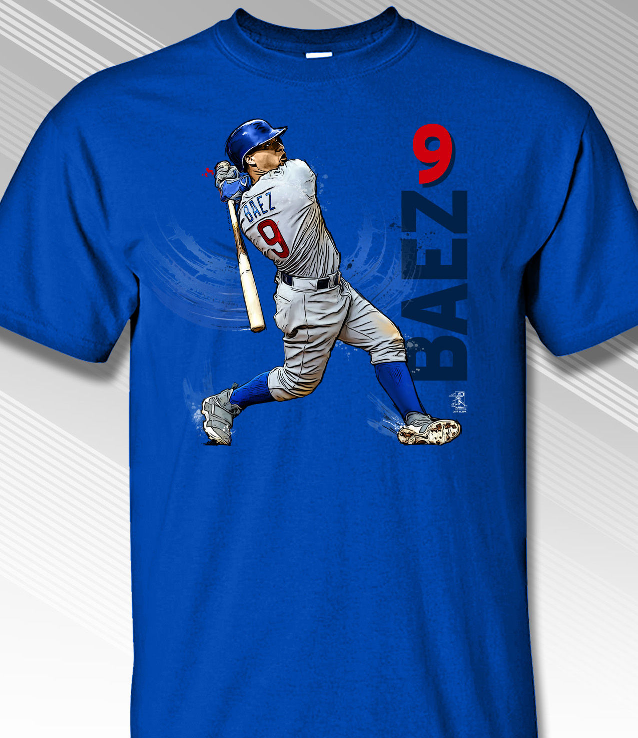 Javier B�ez Swing in Motion Chicago 9 T-Shirt<br>Short or Long Sleeve<br>Youth Med to Adult 4X