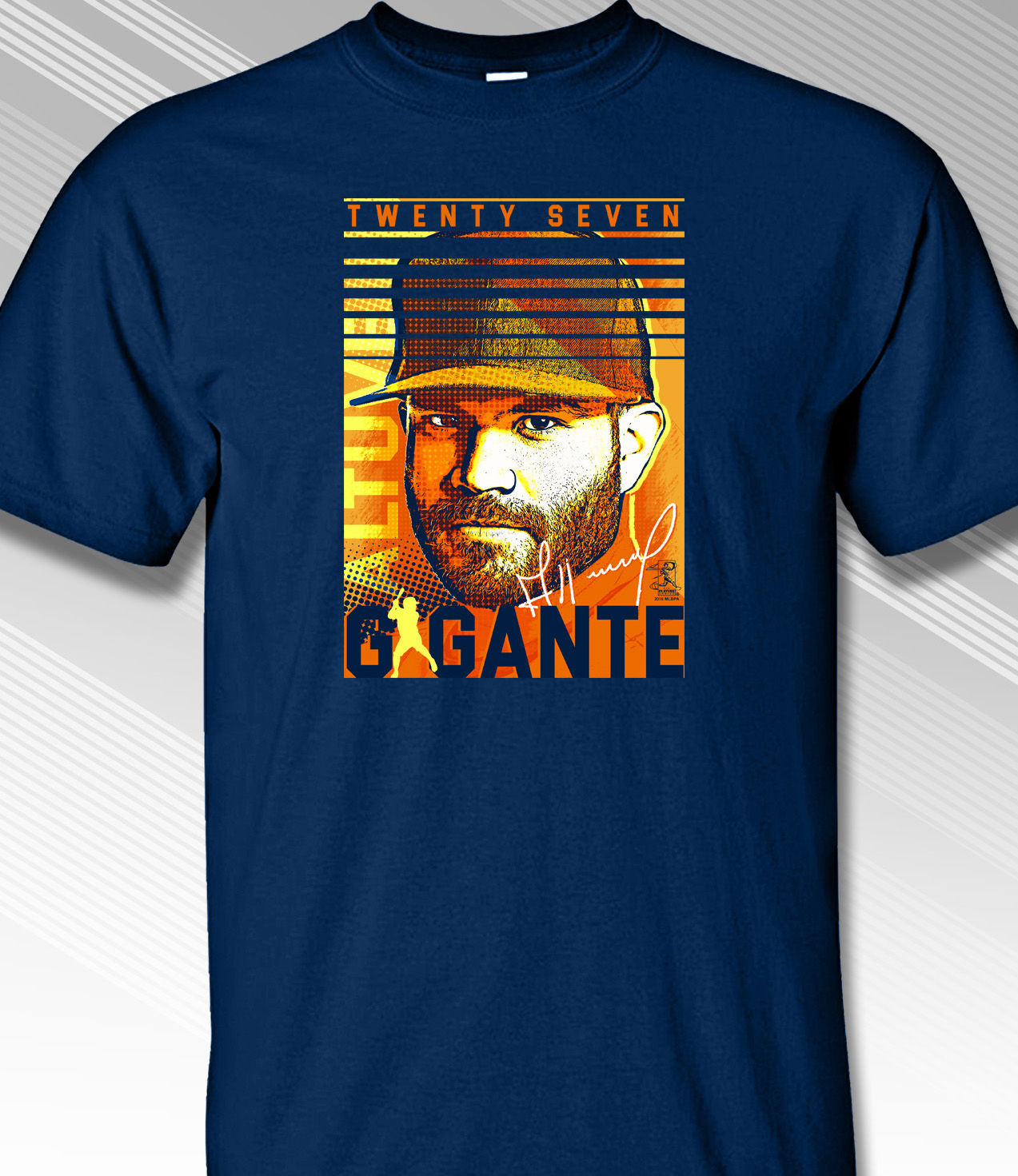 Jose Altuve Gigante Game Face T-Shirt<br>Short or Long Sleeve<br>Youth Med to Adult 4X