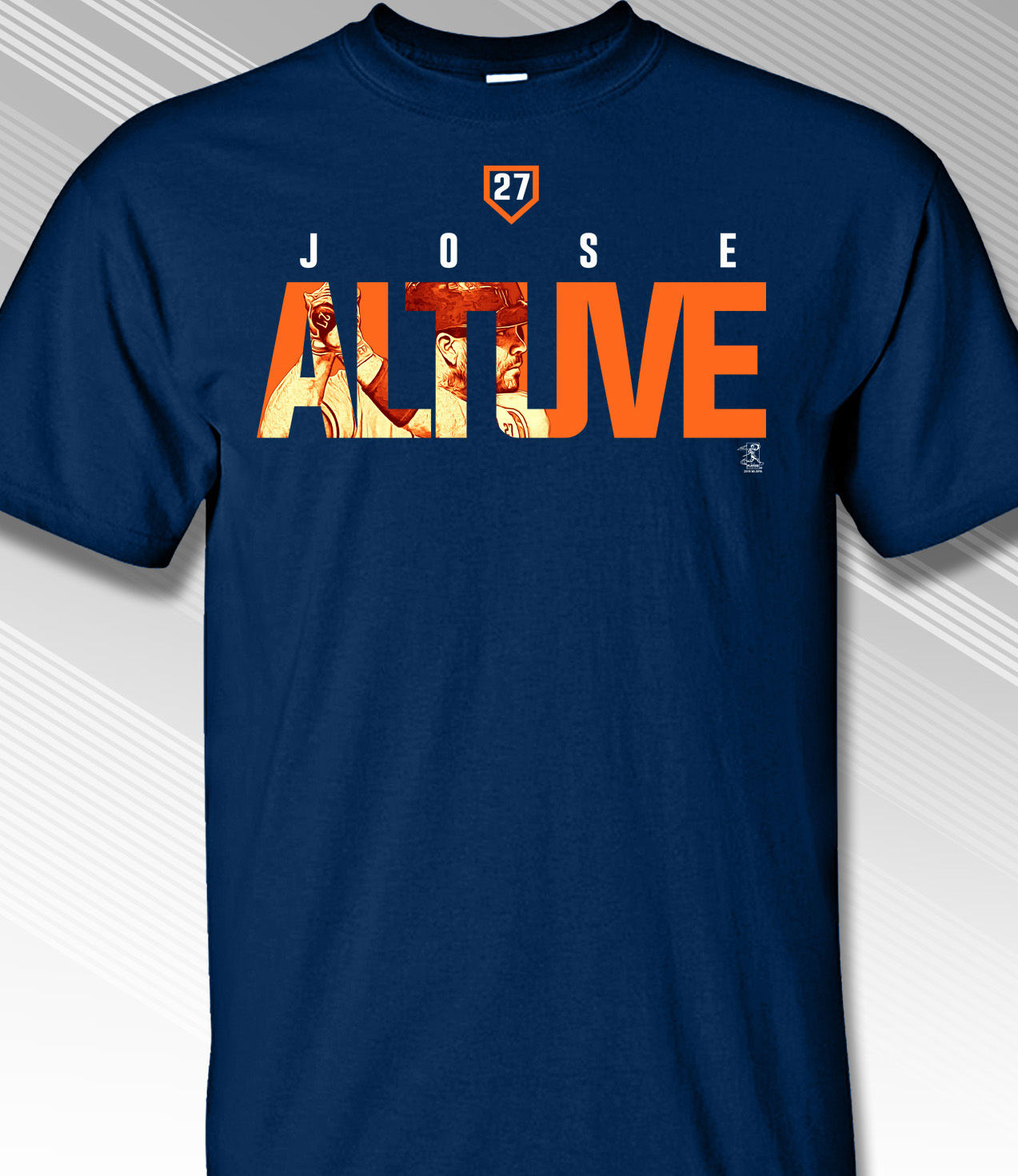 Jose Altuve Houston Name Frame T-Shirt<br>Short or Long Sleeve<br>Youth Med to Adult 4X