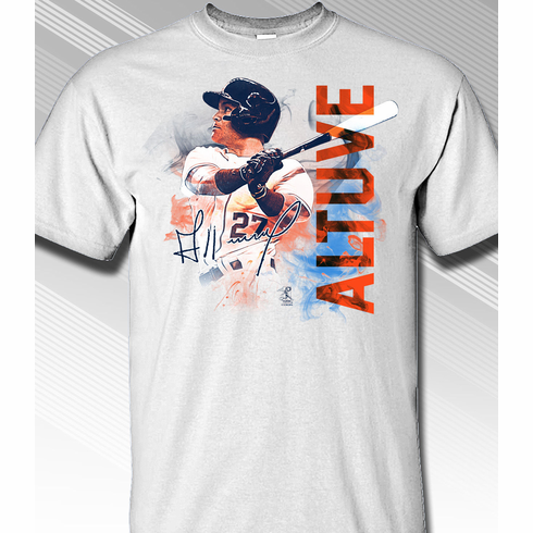 Jose Altuve Houston Smoke T-Shirt<br>Short or Long Sleeve<br>Youth Med to Adult 4X