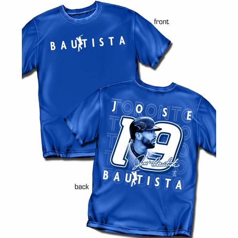 Jose Bautista Silhouette Number T-Shirt<br>Short or Long Sleeve<br>Youth Med to Adult 4X